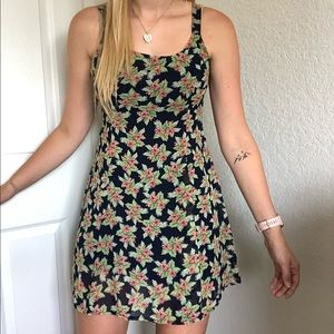 Hem & Thread Tropical Floral Tank Top Mini Dress